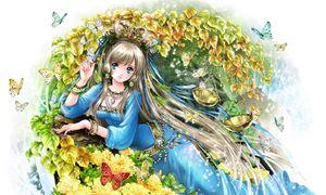 Chùm tranh minh họa 12 cô gái hoàng đạo 'đẹp hơn hoa' phong cách anime