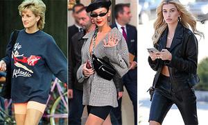 Style công nương Diana hot trở lại, đến quần đùi bó chẽn cũng thành trào lưu