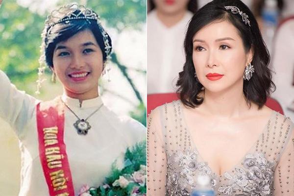 Bùi Bích Phương là Hoa hậu Việt Nam đăng quang đầu tiên năm 1988. Chị cũng là hoa hậu có chiều cao khiêm tốn nhất - 1,57 m. Tuy nhiên chị có gương mặt tròn đầy phúc hậu. Đã 30 năm trôi qua nhưng nhan sắc của chị vẫn rất đằm thắm, trẻ trung.
