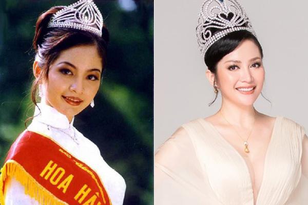 Hoa hậu Thiên Nga sinh năm 1975, đăng quang Hoa hậu năm 1996. Sau khi kết hôn và sang Mỹ định cư, chị gần như không còn xuất hiện và được mệnh danh là hoa hậu kín tiếng nhất. Trong bộ ảnh tái xuất mới đây, Thiên Nga gây bất ngờ với vẻ đẹp rạng ngời, thậm chí còn quyến rũ hơn xưa.