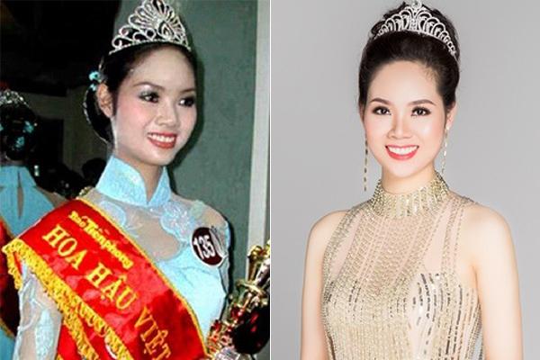 Hoa hậu Mai Phương cải thiện nhiều về nhan sắc từ sau khi đăng quang năm 2002. Việc thực hiện chỉnh sửa hàm răng giúp người đẹp Hải Phòng có nụ cười càng thêm tươi rói.