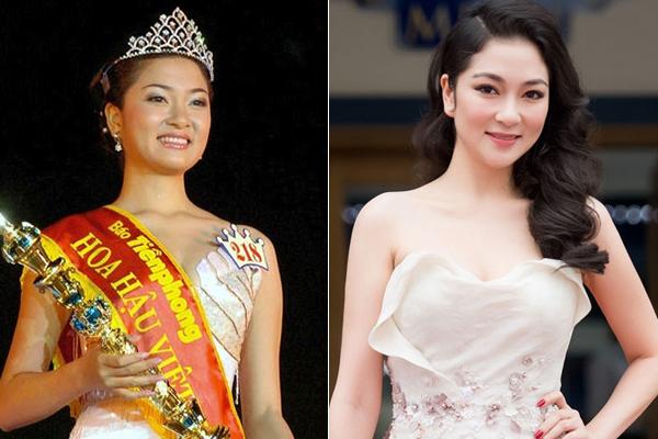 Sau nhiều năm bước lên ngôi vị cao nhất, Hoa hậu Việt Nam năm 2004 Nguyễn Thị Huyền vẫn giữ được vẻ đẹp tròn đầy, phúc hậu, dịu dàng đúng chuẩn phụ nữ Á Đông.