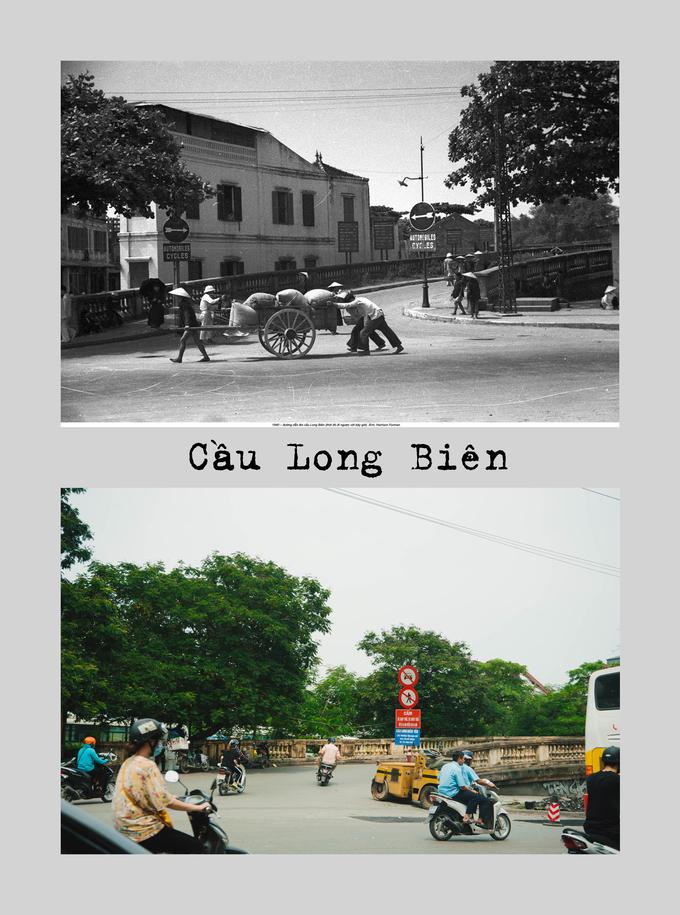 """<p> <strong>Cầu Long Biên</strong> - cây cầu thép bắc qua sông Hồng - là một trong những hình ảnh biểu tượng của Hà Nội. Cầu được Pháp xây dựng (1898-1902), với tên ban đầu là """"Doumer"""", đặt theo tên Toàn quyền Đông Dương Paul Doumer thời bấy giờ.</p>"""
