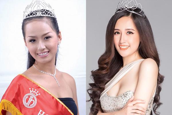 Hoa hậu Mai Phương Thúy không thay đổi quá nhiều từ năm 2006 cho đến nay. Điểm khác biệt nhất trên gương mặt người đẹp là hàng lông mày từ cong hất thành mày ngang, giúp vẻ đẹp của cô từ sắc sảo trở nên dịu hiền hơn hẳn.
