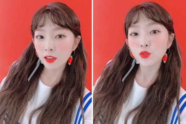 Irene trang điểm kẹo ngọt tươi xinh phù hợp với concept mùa hè.