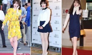 Goo Hye Sun kém sang vì mê đi tất da chân trắng bệch