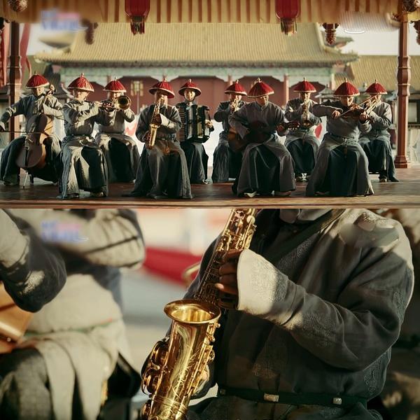 Kèn Saxophone xuyên không, xuất hiện trước khoảng 100 năm lịch sử. Hoàng đế Càn Long trị vì từ năm 1735 đến 1796, trong khi Saxophone được phát minh ra năm 1840.