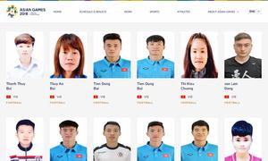 Trang chính thức ASIAD 2018 nhầm lẫn về Olympic Việt Nam