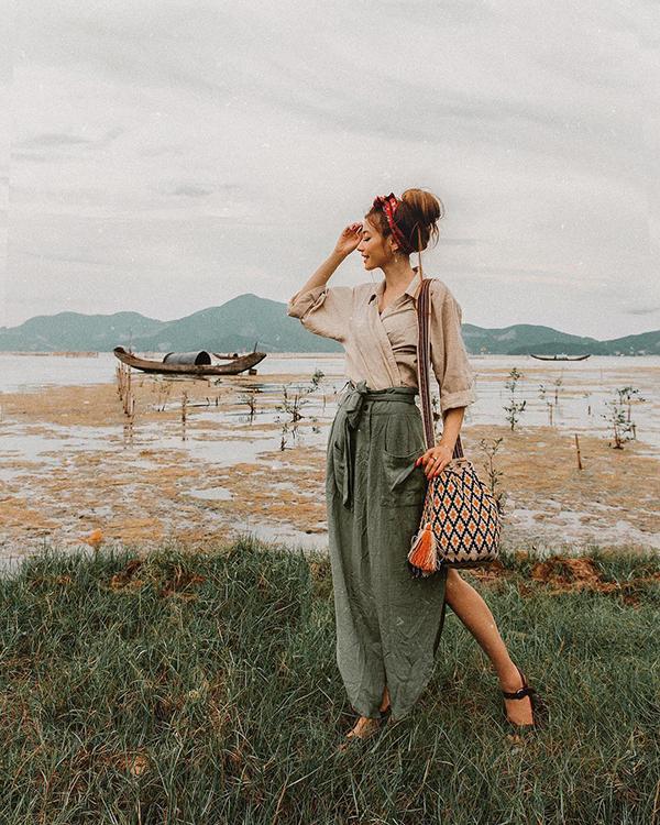 Sarah Trần tại Huế.