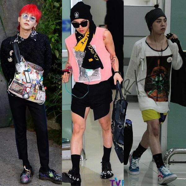 Gần như mọi trang phục của G-Dragon đều không thể ứng dụng trong cuộc sống người bình thường. Chắc chắn trưởng nhóm Big Bang phải tự tin lắm về gout thời trang của mình mới có thể diện những set đồ này.