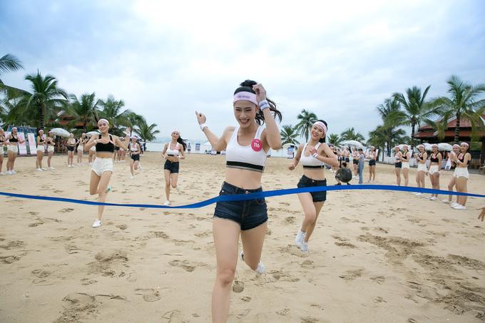 <p> Tham gia vào các phần thi vận động, các cô gái có dịp bộc lộ sức trẻ, sự khoẻ khoắn, năng động.</p>