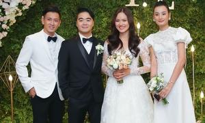 Vợ chồng Lê Thúy và dàn sao dự đám cưới Tuyết Lan