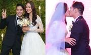 Vợ chồng Tuyết Lan hết nhắng nhít lại khóa môi trong đám cưới