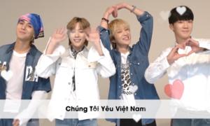 Winner bắn tim dễ thương: 'Chúng tôi yêu Việt Nam'