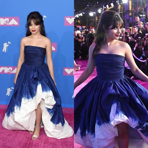 Ngôi sao mới của làng nhạc Âu Mỹ,Camila Cabello, xuất hiện với diện mạo xinh đẹp như một nàng công chúa bước ra từ cổ tích trong bộ váy lộng lẫy của thương hiệu Oscar de la Renta.