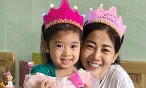 Mai Phương hạnh phúc chúc mừng sinh nhật con gái trong viện