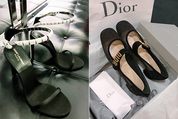 Hàng loạt đôi giày mới từ Saint Laurent, Fendi, Dior... cũng được yêu nữ hàng hiệu này bổ sung vào bộ sưu tập.