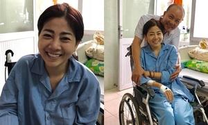 Nụ cười lạc quan trên giường bệnh của diễn viên Mai Phương