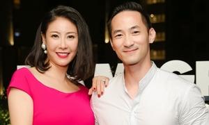 Hoa hậu Hà Kiều Anh dự sự kiện cùng em trai
