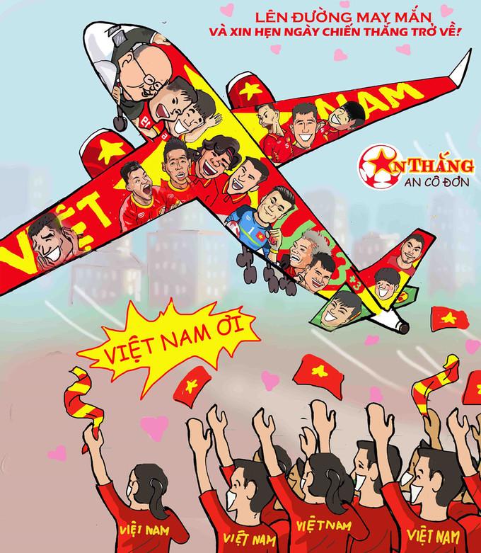 <p> Sau chiến thắng 1-0 trước Nhật Bản, thầy trò HLV Park Hang-seo bước vào vòng 16 đội.Hòa chung vào không khí hừng hực của làng túc cầu, nhất là sau hiệu ứng U23 Việt Nam tại Thường Châu, những chàng trai được người hâm mộ nước nhà kỳ vọng và trông ngóng. Hàng triệu cổ động viên Việt cổ vũ hết mình cho những cầu thủ trẻ.</p>