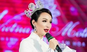 Hoa hậu Ngọc Diễm bật khóc nhìn lại 10 năm sau đăng quang
