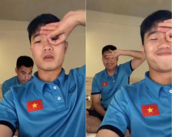 Xuân Trường - Đức Huy của U23 Việt Nam cũng nhắng nhít nhập cuộc