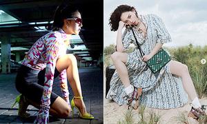 Mốt ngược đời của sao Việt: Váy điệu đi với giày thể thao, đồ tập gym mix cao gót