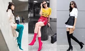 Boots cao cổ - phụ kiện 'chất ngất' khi ra phố của sao Việt