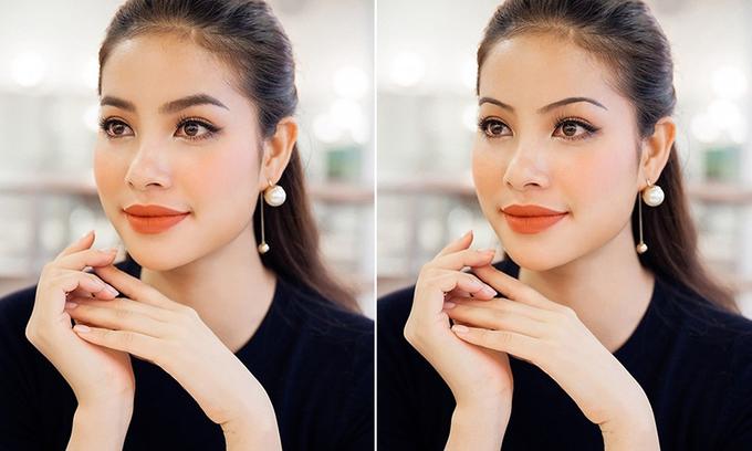 """<p> Từ một cô gái có vẻ đẹp Tây, Phạm Hương trông giống hệt các mỹ nhân """"ảnh lịch"""" Việt thập niên 90.</p>"""