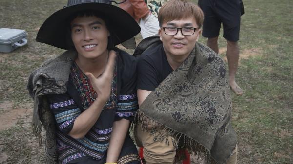 Đại Nghĩa và diễn viên Tấn Phát.