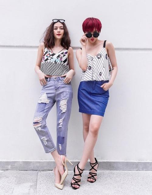Trong 4 người, chỉ có Thiều Bảo Trang và Thiều Bảo Trâm theo con đường nghệ thuật. Hai cô nàng này cũng thường xuyên được khen ngợi vì có phong cách thời trang chuẩn khỏi chỉnh.