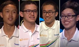 4 gương mặt vào chung kết năm Đường lên đỉnh Olympia 2018