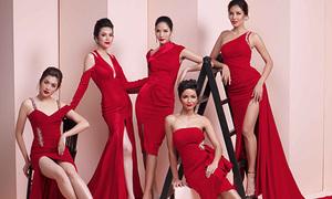 5 đại diện Việt Nam ở Miss Universe đọ sắc trong một khung hình
