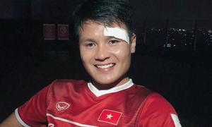 Quang Hải sau cú đổ máu trên sân cỏ: 'Tôi vẫn khỏe và đẹp trai'