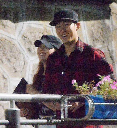 Song Heung Min và Min Ah.