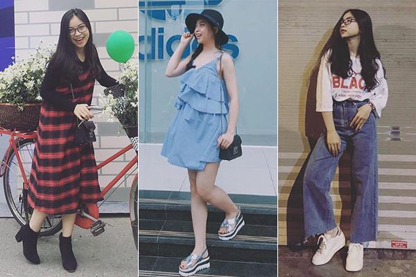 Thời mới bắt đầu được chú ý, Nhật Lê vẫn có phong cách khá giản dị. Cô nàng để tóc đen dài, thích các kiểu ăn mặc dễ thương, ngọt ngào thay vì sexy như hiện tại.