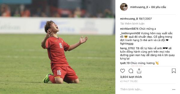 Chia sẻ đầu tiên của Minh Vương trên Instagram sau khi gây bão.