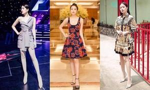 Gu thời trang sành điệu trên ghế nóng The Debut của Hoàng Thùy Linh