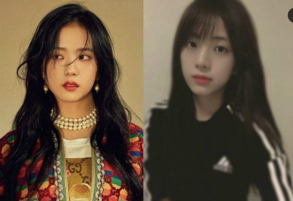 Ji Soo và chị gái được nhận xét giống nhau như hai giọt nước.