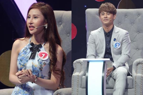 Hoa hậu Chi Nguyễn và Ưng Đại Vệ tại show hẹn hò,