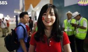 Fan nữ gây sốt trên đài SBS: 'Em rất vui vì được khen'