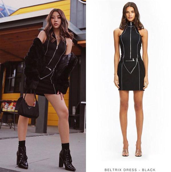 Mức độ chịu chơi của Quỳnh Anh Shyn được thể hiện trong việc cô nàng nhiều lần không ngại sắm những trang phục giá trên trời cũng chỉ để mặc một lần chụp hình. Thiết kếI.AM.GIA Beltrix Dress