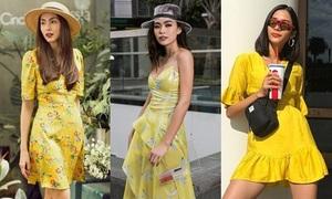 'Học lỏm' sao Việt cách diện đồ gam vàng sành điệu xuống phố