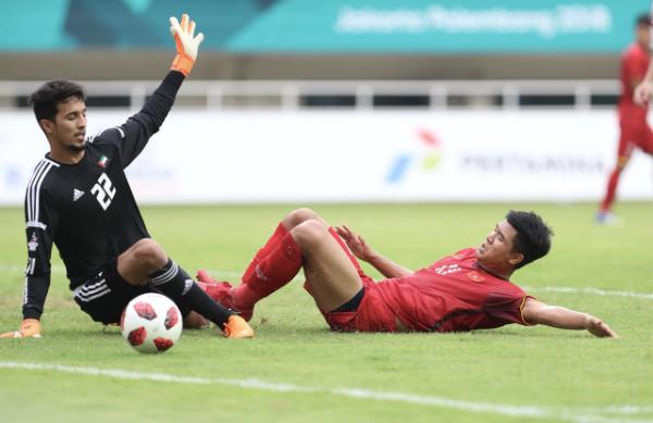Tuyển Olympic Việt Nam có nhiều cơ hội, nhưng cuối cùng không thể dẫn trước bàn thắng trước Olympic UAE.