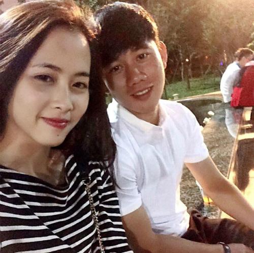Minh Vương và bạn gái.