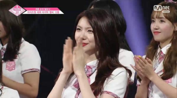 Lee Ga Eun, thành viên nổi bật hàng đầu đã bị loại khỏi top 12.
