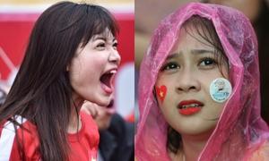 Girl xinh dầm mưa, gào khan cổ tiếp lửa cho Olympic Việt Nam