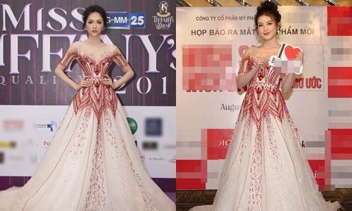 Bên cạnh đó cũng có ý kiến cho rằng, thật khó phân định giữa Huyền My và Hương Giang, ai mới thực sự mặc chiếc váy này đẹp hơn. Bởi trong khi Hương Giang quyền lực, sang trọng thì Huyền My lại gây thương nhớ với vẻ nữ tính, điệu đà.