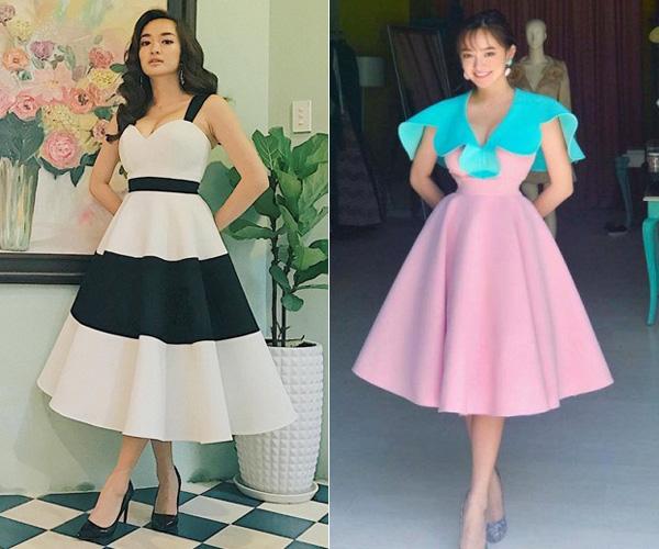 Những thiết kế đầm dạ hội có dáng thắt gọn ở eo, thân váy xòe bồng rất được lòng cô nàng vì tạo cảm giác eo nhỏ hơn, hông và ngực cân đối.