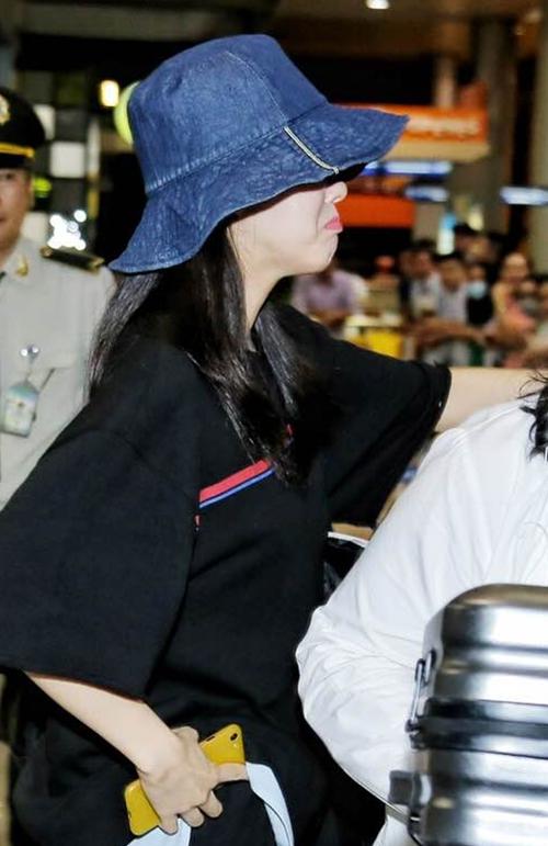 Biểu cảm nũng nịu đáng yêu của Hyomin. Ảnh: Windy Nguyễn.